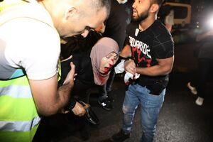عکس/ زخمی شدن بانوی فلسطینی به ضرب گلوله اسرائیلیها