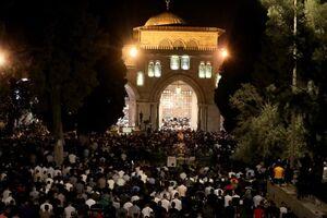 مسجدالاقصی مملو از فلسطینیها