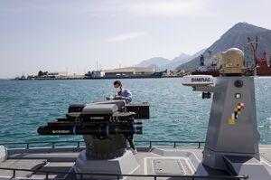 آزمایش شناور مسلح بدون سرنشین ترکیه+عکس