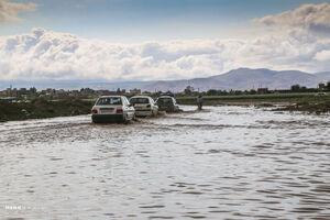 عکس/ آبگرفتگی معابر در حاشیه شهر بجنورد