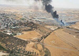 ویدئوی جدید از آتشسوزی نزدیک کارخانه نظامی صهیونیستها