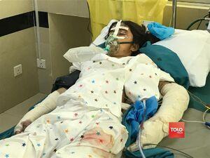 عکس/ زخمیهای انفجار مدرسه دخترانه کابل