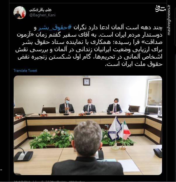 مطالبه علی باقری از سفیر آلمان+ عکس