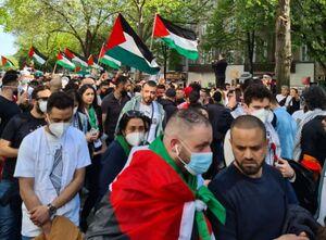 عکس/ تجمع در برلین در حمایت از فلسطین