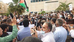 عکس/ تظاهرات اردنیها در حمایت از فلسطینیان