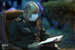 حضور سرلشکر سلامی در محفل انس با قرآن