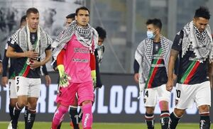 همبستگی جالب یک تیم فوتبال در شیلی با مردم فلسطین