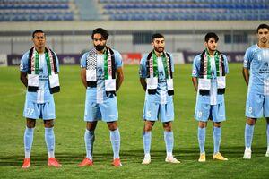 عکس/ همبستگی فوتبالیستهای کویتی با مردم فلسطین