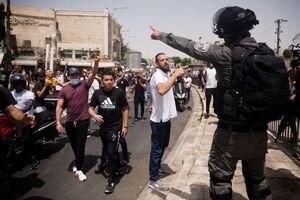 خوشحالی مردم فلسطین در خیابانها