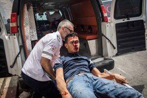 عکس/ وحشیگری صهیونیستها در مسجدالاقصی