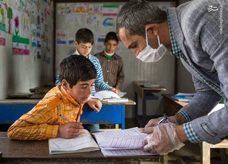 همت ابراهیم و بچه های مدرسه همت+ تصاویر