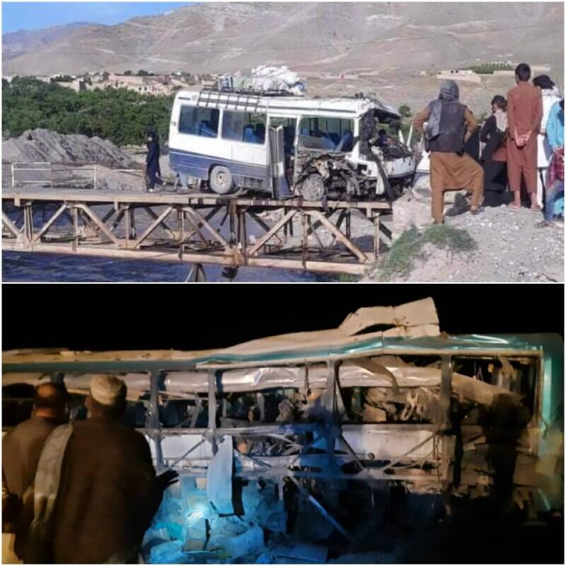 انفجار مرگبار یک مین یک اتوبوس در افغانستان با ۱۱ کشته