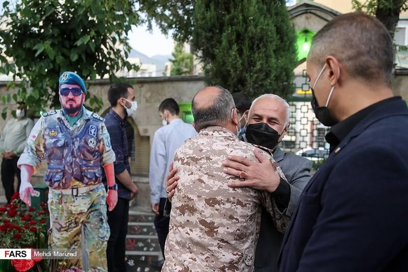دیدار سردار صادق محمودی فرمانده نیروهای صابرین و حسن عباسی  رئیس اندیشکده یقین