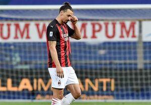 زلاتان ۲ بازی بعدی میلان را از دست داد