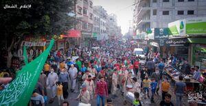 عکس/ حضور پرشور مردم نوارغزه در خیابانها