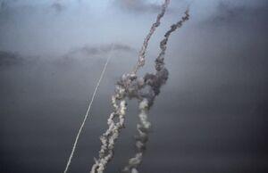 عکس/ غرش موشکهای محور مقاومت در آسمان فلسطین