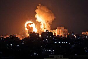 عکس/ حمله هوایی رژیم صهیونیستی به نوار غزه