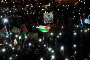 عکس/ تظاهرات دهها هزار نفری مردم ترکیه در حمایت از فلسطین