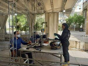 عکس/ حضور یک زن موتورسوار در وزارت کشور