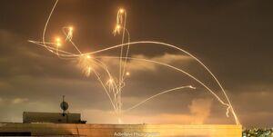 فیلم/ آسمان تلآویو با موشکهای مقاومت ستاره باران شد