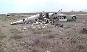 عکس/ سقوط هواپیمای آموزشی در اطراف فرودگاه اراک