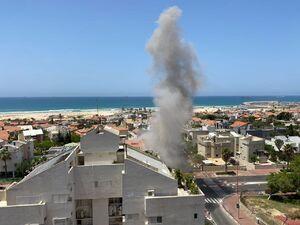 عکس/ حمله موشکی مقاومت به شهرکهای صهیونیستنشین