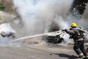 فیلم/ انهدام خودروهای صهیونیستها با راکت مقاومت