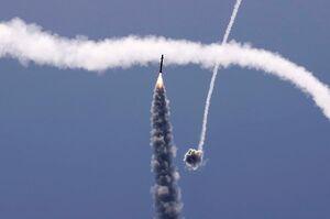 عکس/ وحشت صهیونیستها از موشکهای فلسطینیها