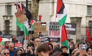 معترضان به رژیم صهیونیستی در چند شهر انگلیس تجمع کردند