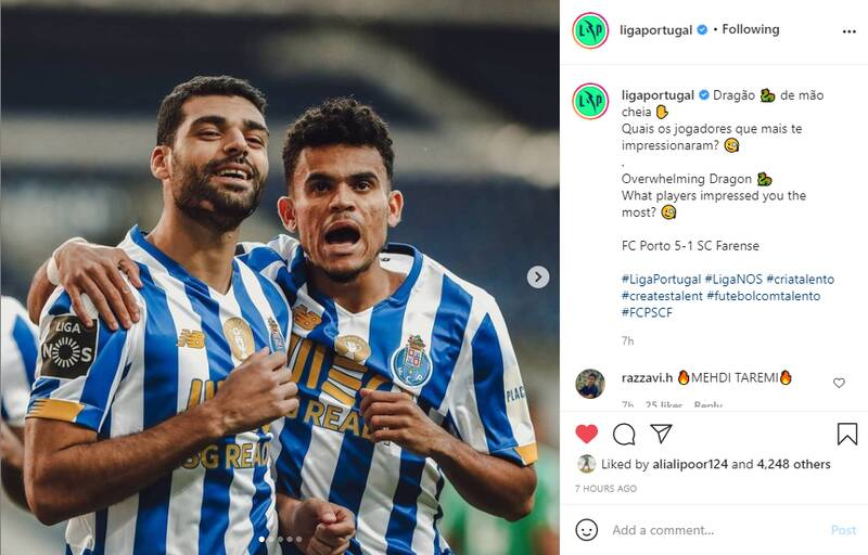 واکنش صفحه لیگ پرتغال به درخشش طارمی +عکس