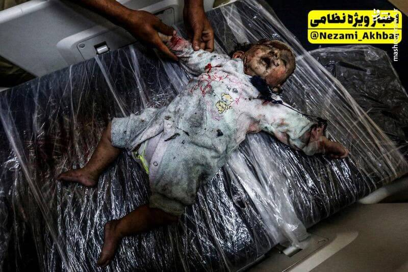 تصویری دلخراش از جنایت اسرائیل در غزه ۱۸+