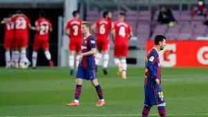 امیدهای قهرمانی بارسلونا کمرنگ شد