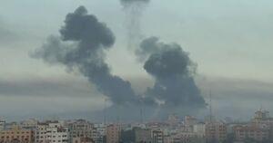عکس/ غزه زیر بمباران گسترده