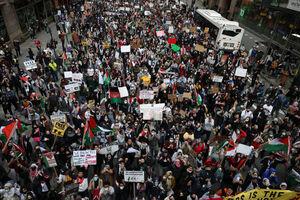 تظاهرات حمایت از فلسطین در آمریکا