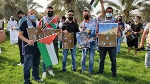 عکس/ تظاهرات در کویت برای اعلام همبستگی با ملت فلسطین