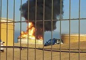 فیلم/ پالایشگاه نفت عسقلان همچنان میسوزد