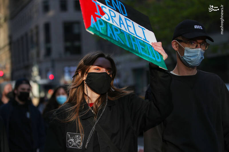 راهپیمایی حامیان فلسطین در مقابل کاخ سفید