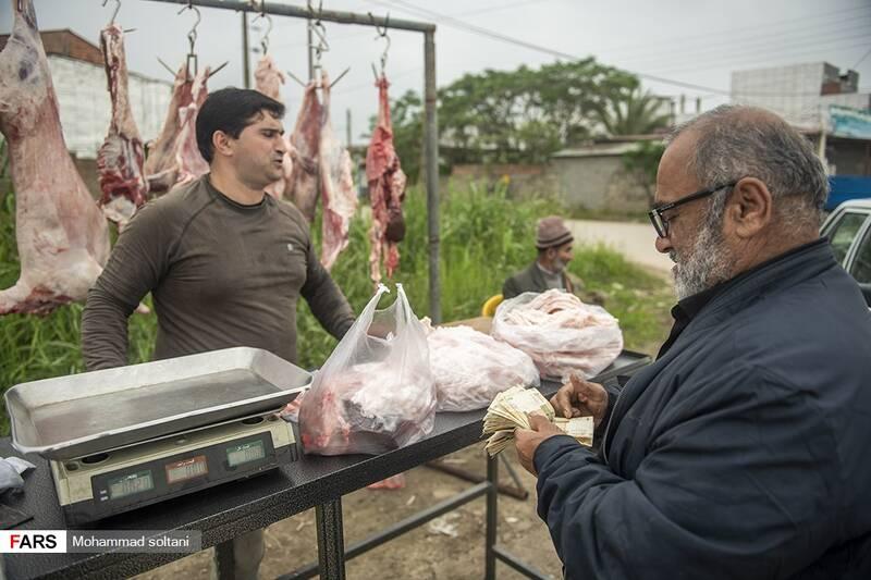 خرید و فروش گوشت در شاه رضا  بازار