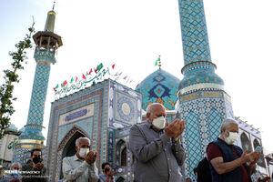 عکس/ اقامه نماز عید فطر در امامزاده صالح (ع)