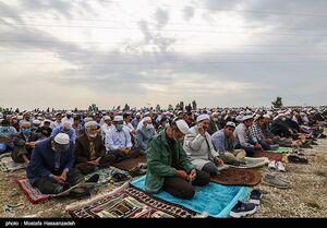 عکس/ نماز عید سعید فطر در بندر ترکمن