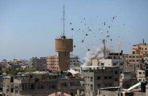عکس/ بمباران خانه فلسطینیان با موشکهای بالدار