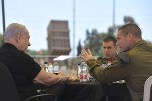 عکس/ دلخوشی نتانیاهو به گنبد آهنین