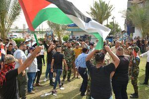 تجمع جوانان عراقی در خیابان فلسطین بغداد+ فیلم