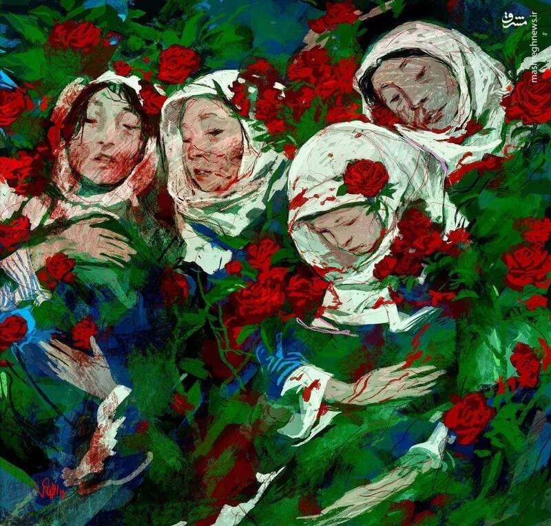 نقاشی حسن روح الامین برای نوگلان افغانستان+ عکس