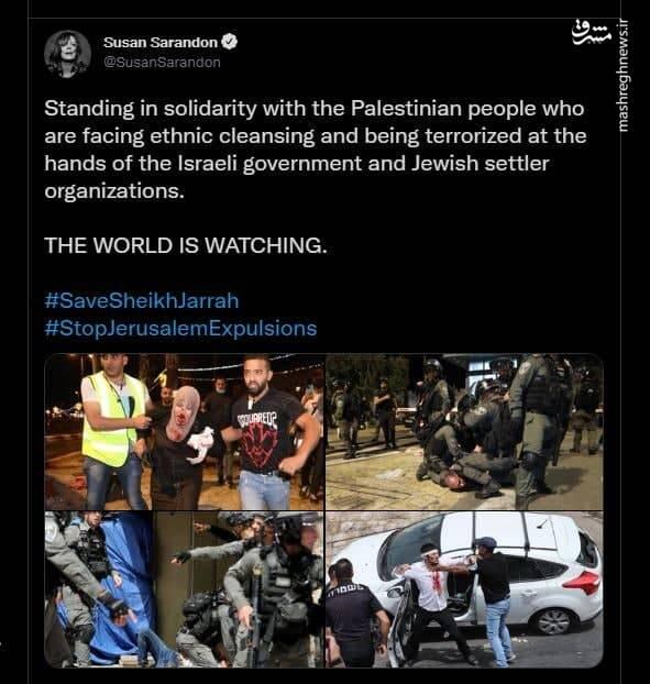 حمایت ستاره زن هالیوود از مردم فلسطین