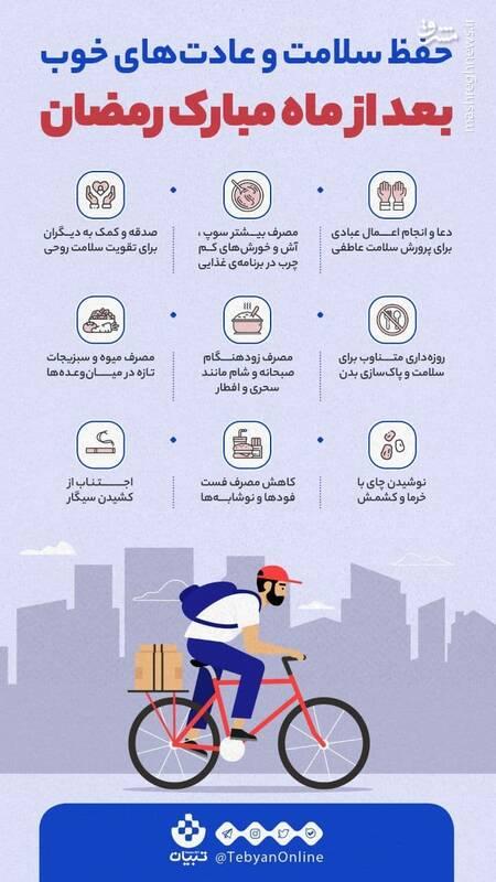 شیوه حفظ سلامت بعد از ماه رمضان
