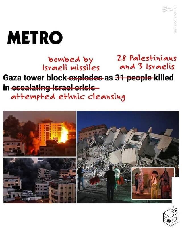 سفیدنمایی رسانه های غربی برای اسرائیل+ اسناد