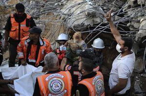 اجساد خانواده ۶ نفره در شمال غزه