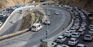 ترافیک سنگین در مسیر جنوب به شمال محور کندوان/کاهش ۲۵ درصدی تردد خودرو در جاده ها