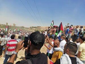 عکس/ اردنیها خود را به مرز فلسطین رساندند